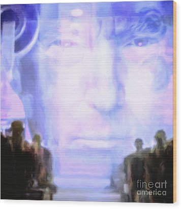 Wood Print featuring the photograph Donald Trump 1984 Square by Wingsdomain Art and Photography