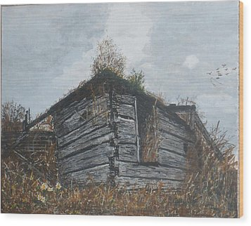 Wood Print featuring the painting Done Its Time... by Betty-Anne McDonald