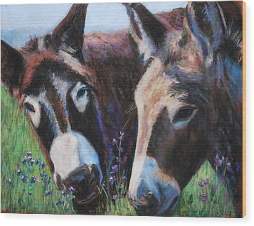 Donkey Tonk Wood Print by Billie Colson