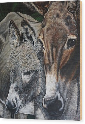 Donkies Wood Print