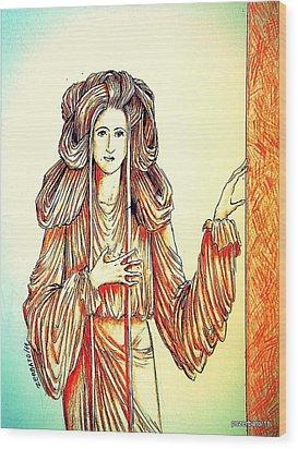 Donna Angelicata Wood Print by Paulo Zerbato