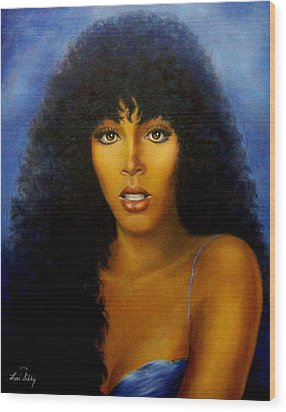 Donna Summers Wood Print