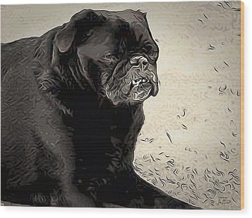 Donnas Bulldog Wood Print