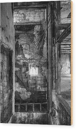Don't Look Down Wood Print by Matthew Green