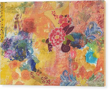 Don't Send Me Flowers II Wood Print by Gloria Von Sperling