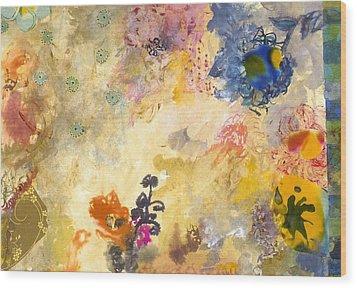 Don't Send Me Flowers Iv Wood Print by Gloria Von Sperling