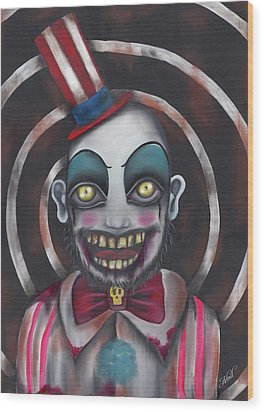 Don't You Like Clowns?  Wood Print by Abril Andrade Griffith