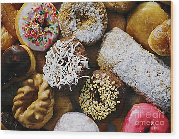 Wood Print featuring the photograph Donuts by Vivian Krug Cotton