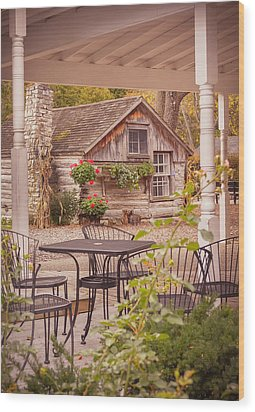 Wood Print featuring the photograph Door County Thorp Cottage by Heidi Hermes
