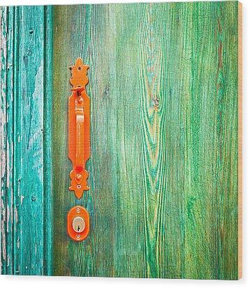 Door Handle Wood Print