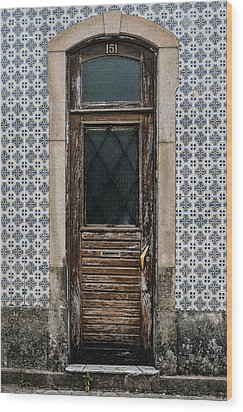 Wood Print featuring the photograph Door No 151 by Marco Oliveira