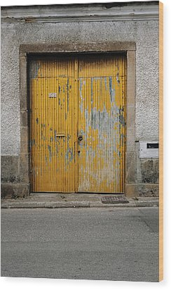 Wood Print featuring the photograph Door No 152 by Marco Oliveira