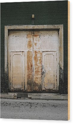 Wood Print featuring the photograph Door No 163 by Marco Oliveira