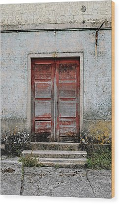 Wood Print featuring the photograph Door No 175 by Marco Oliveira