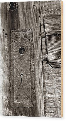 Wood Print featuring the photograph Door To Days Long Gone by Wanda Brandon