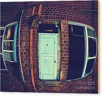 Wood Print featuring the photograph Door To Nowhere by Yulia Kazansky