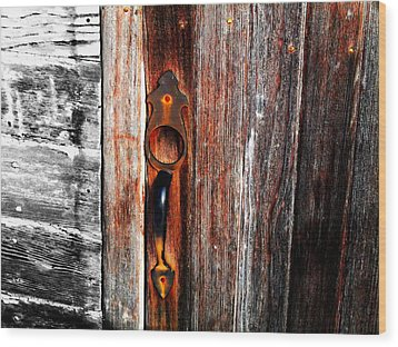Door To The Past Wood Print by Julie Hamilton