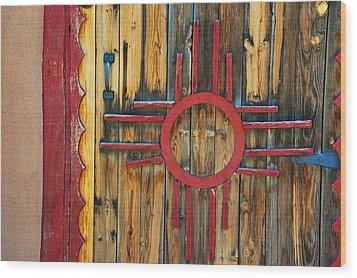 Door With Zia Wood Print