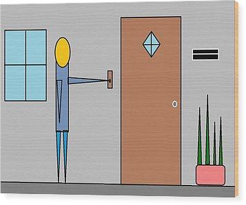 Doorbell Wood Print