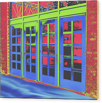Wood Print featuring the digital art Doorplay by Wendy J St Christopher