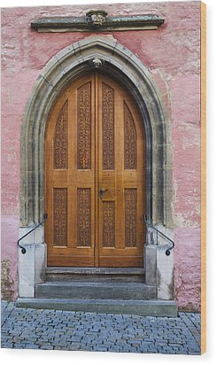 Doors Of Germany Wood Print by Cecil Fuselier