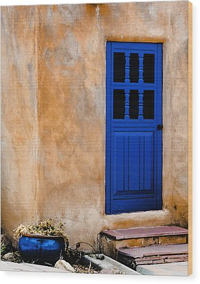 Doors Of Taos Wood Print