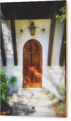 Doors Of The Florida Panhandle # 2 Wood Print by Mel Steinhauer