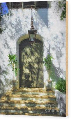 Doors Of The Florida Panhandle Wood Print by Mel Steinhauer