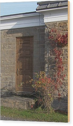 Wood Print featuring the photograph Doorway At The Stone House - Photograph by Jackie Mueller-Jones