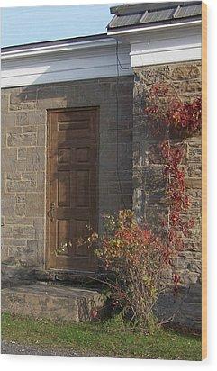 Doorway At The Stone House - Photograph Wood Print by Jackie Mueller-Jones
