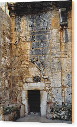 Doorway Church Of The Nativity Wood Print by Thomas R Fletcher