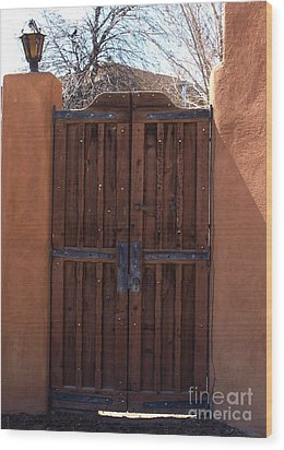 Doorway New Mexico Wood Print
