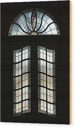 Doorway Wood Print by Sandy Keeton