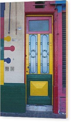 Doors Of San Telmo, Argentina Wood Print