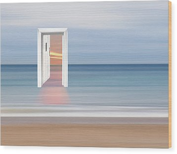 Doorway To The Future Wood Print by Gill Billington