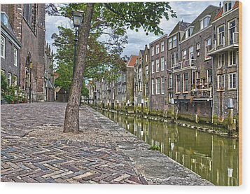 Dordrecht Behind The Church Wood Print by Frans Blok
