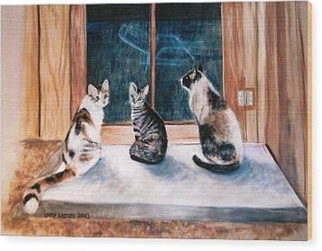 Doreen's Cats Wood Print