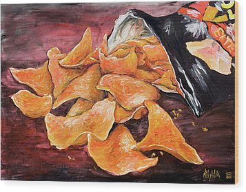 Doritos Wood Print by Nik Helbig