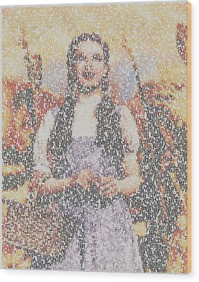Wood Print featuring the mixed media Dorothy Made Of Wizard Of Oz Quotes by Paul Van Scott
