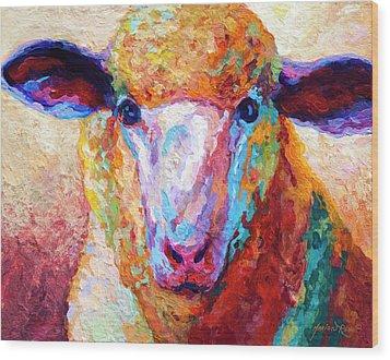 Dorset Ewe Wood Print by Marion Rose