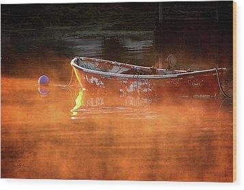 Dory In Orange Mist Wood Print