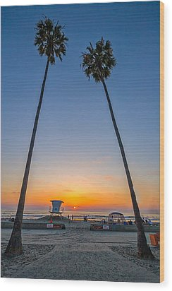 Dos Palms Wood Print