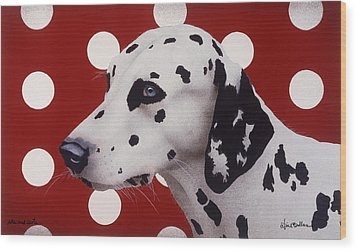 Wood Print featuring the painting Dots And Spots... by Will Bullas