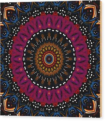 Dotted Wishes No. 5 Kaleidoscope Wood Print by Joy McKenzie