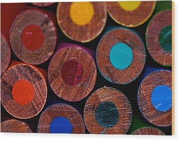 Dotty Wood Print by Lisa Knechtel