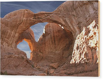 Double Arch In Late Afternoon Wood Print by Mike McGlothlen