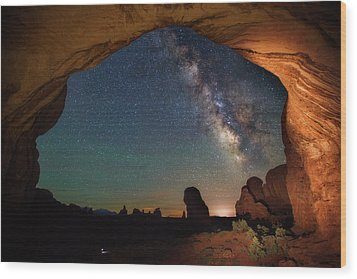 Double Arch Milky Way Views Wood Print by Darren White