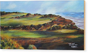 Double Bogey Wood Print by Marti Green