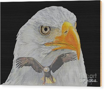 Double Eagle Wood Print by Bill Richards