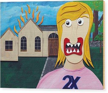 Double-ex Wood Print by Sal Marino